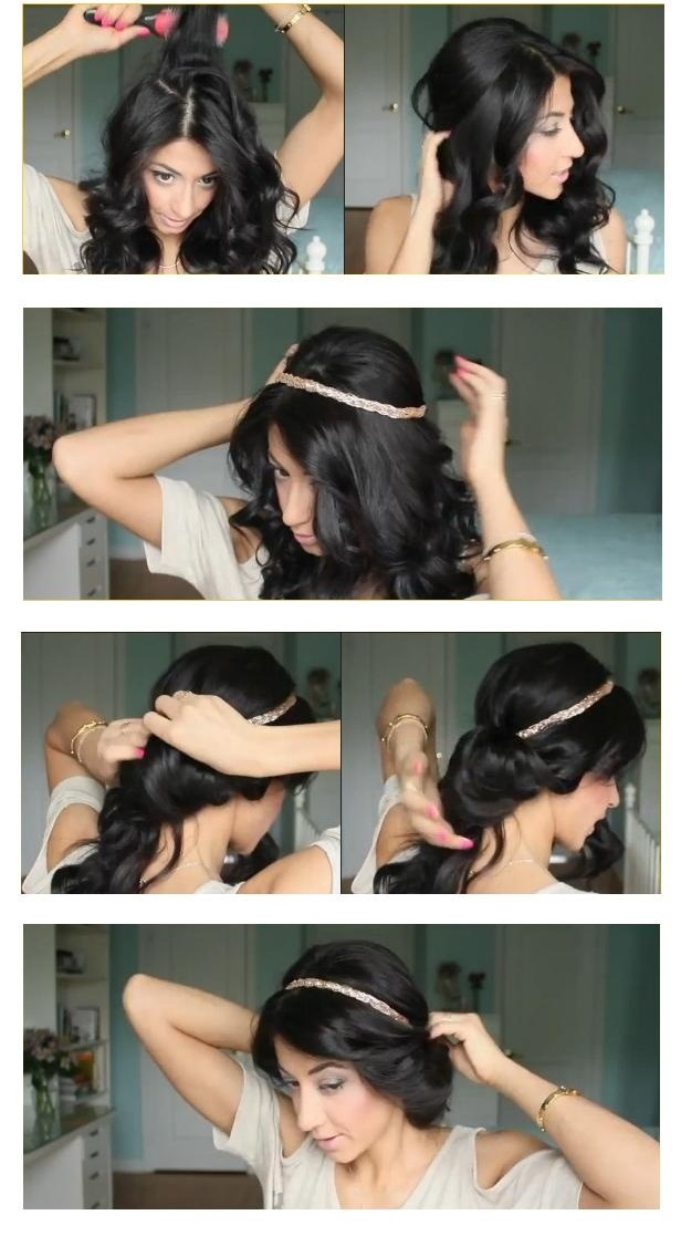 tutoriel coiffure avec headband avec bijoux de cheveux. Black Bedroom Furniture Sets. Home Design Ideas
