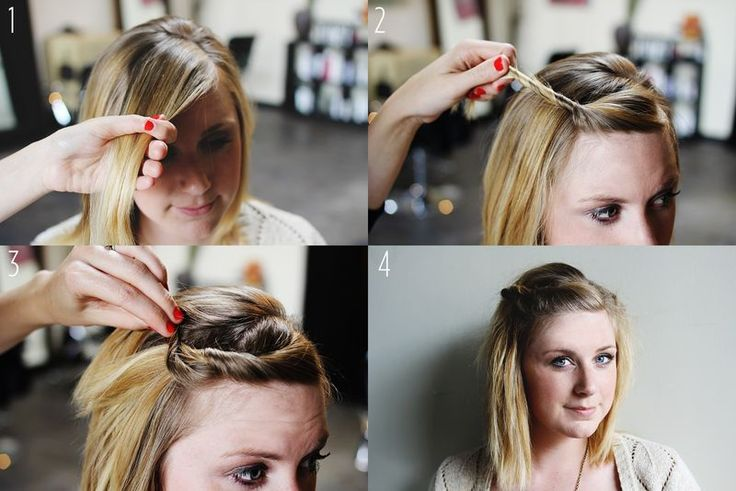 tuto coiffure cheveux courts