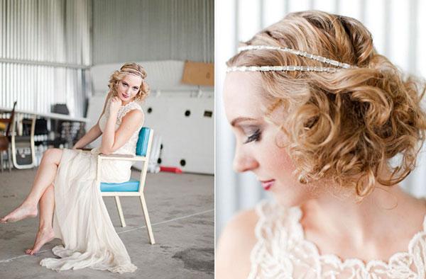 accessoires cheveux court mariage vintage