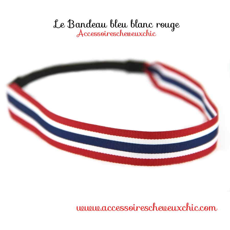 coiffure de supporter avec accessoires de mode bleu blanc rouge. Black Bedroom Furniture Sets. Home Design Ideas