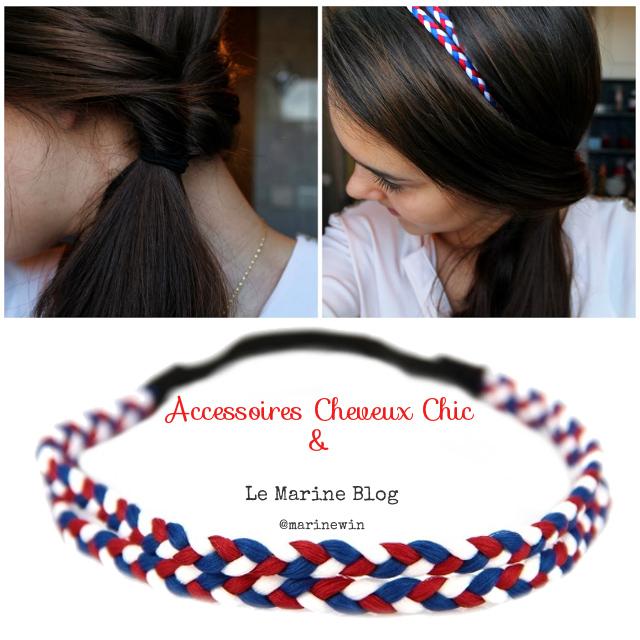 """Soutenez l'équipe de france avec la Tresse Cheveux """"Bleu Blanc Rouge"""""""