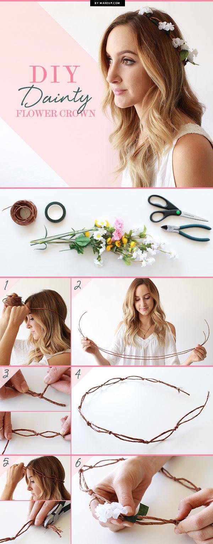 comment fabriquer couronne fleurs cheveux