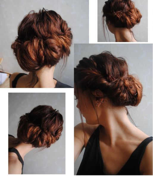 Comment faire un chignon cr p - Comment faire un chignon flou ...