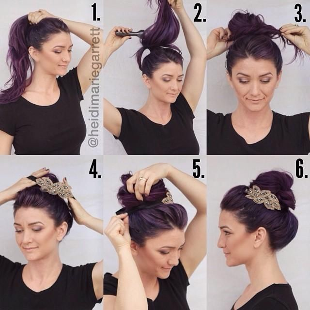 tutoriel coiffure chignon headband facile bas flou ou sur le c t. Black Bedroom Furniture Sets. Home Design Ideas