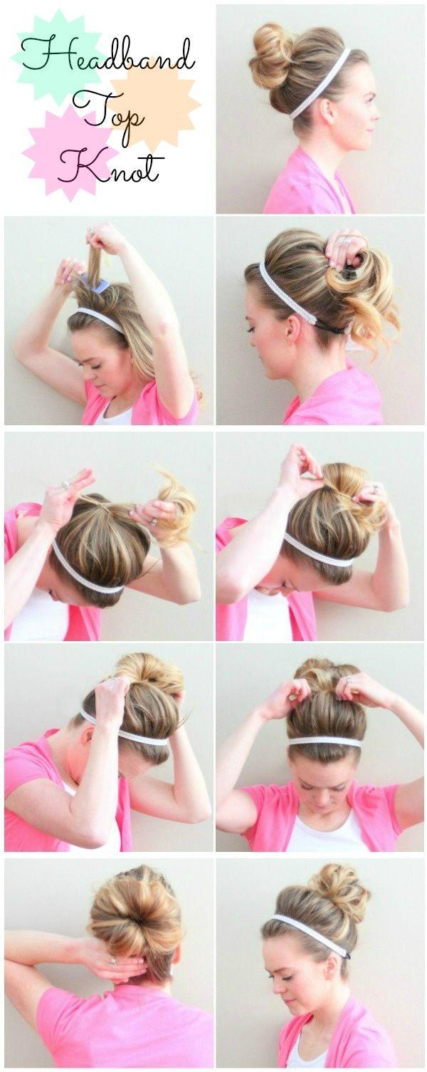 tuto coiffure chignon headband