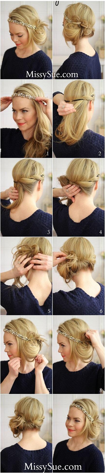 Idu00e9e coiffure- Comment faire chignon annu00e9es 20 /30