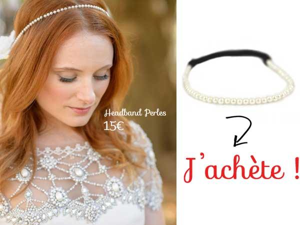 accessoires cheveux avec perles