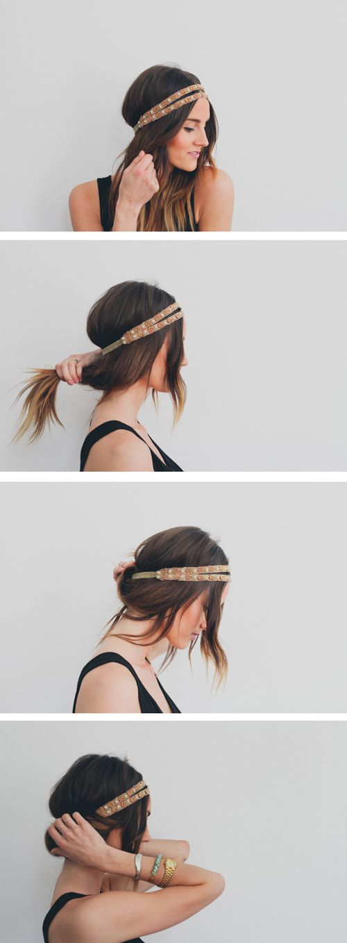 coiffure accessoire cheveux tuto