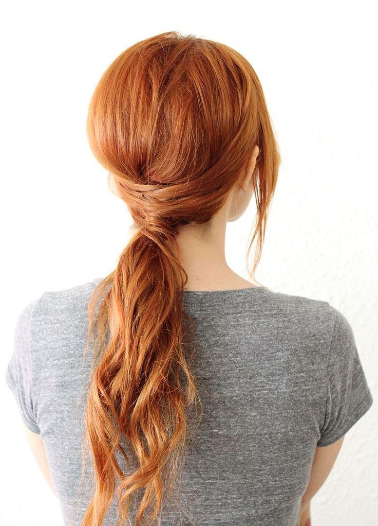 coiffure avec queue de cheval
