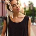 coiffure foulard noeud papillon