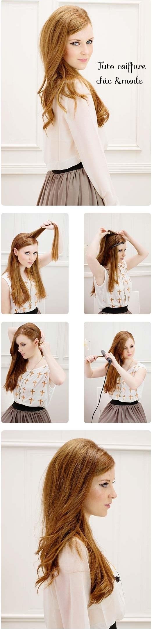 metiers de la coiffure tuto coiffure femme