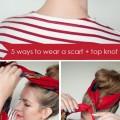 tuto chignon foulard coiffure
