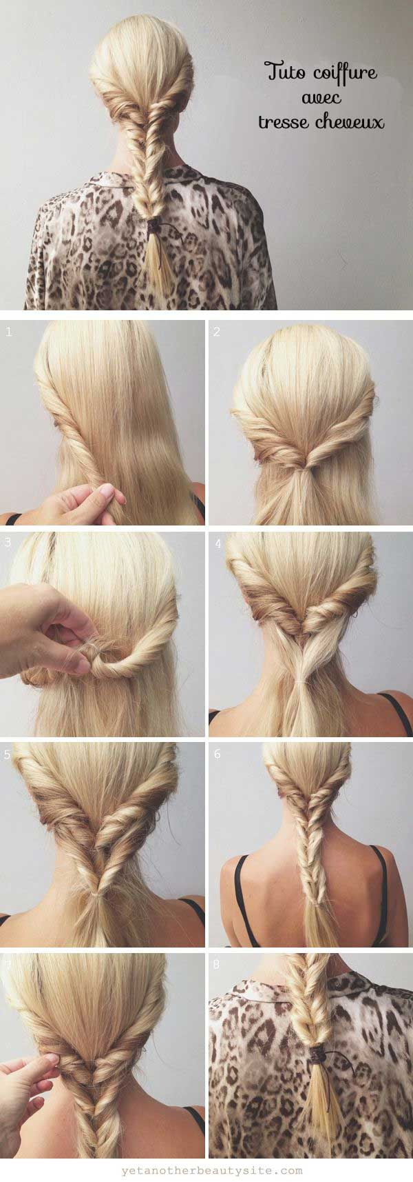 Tuto coiffure facile cheveux longs courts