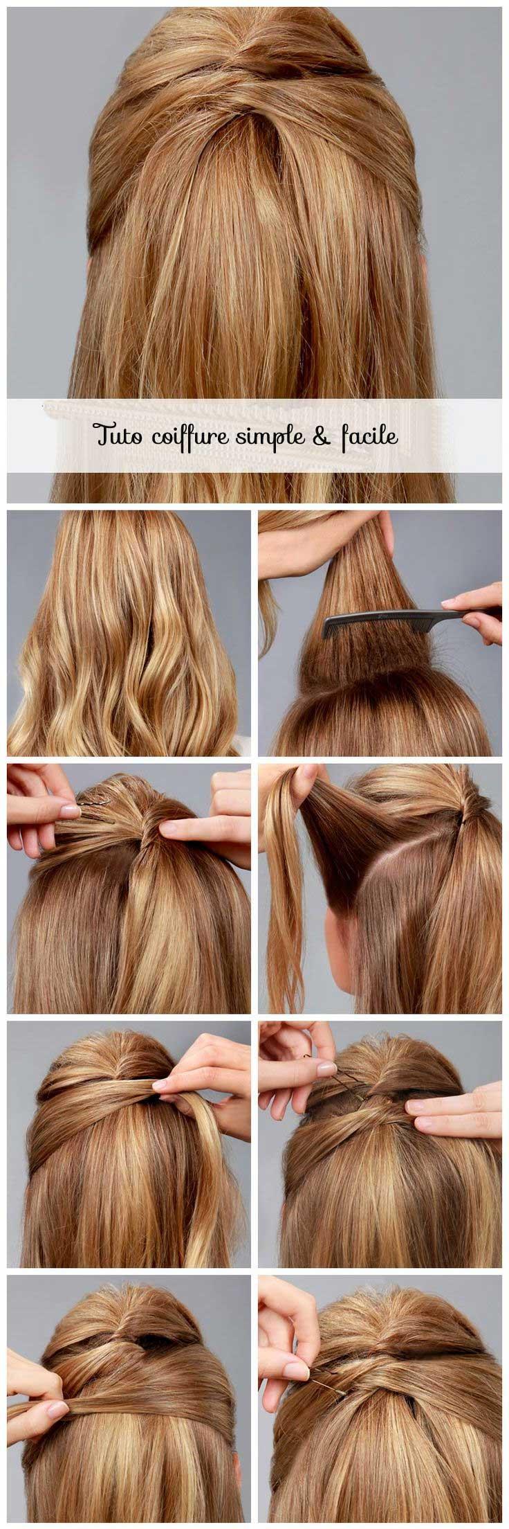 Coiffure rapide cheveux longs et fins