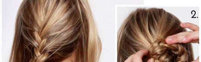 tuto coiffure tresse chignon