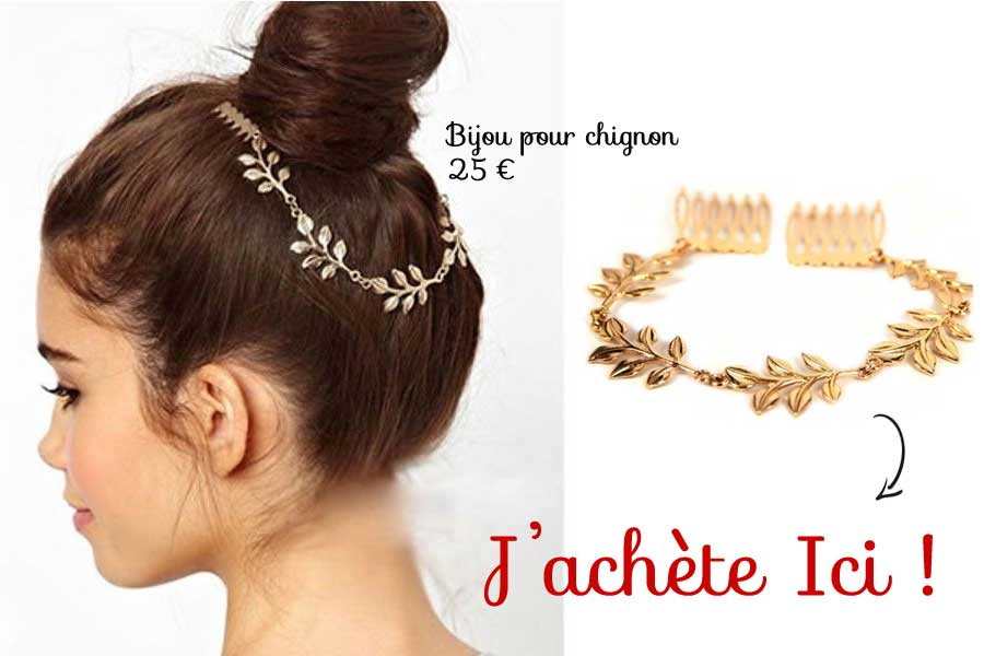 accessoire bijoux-coiffure chignon
