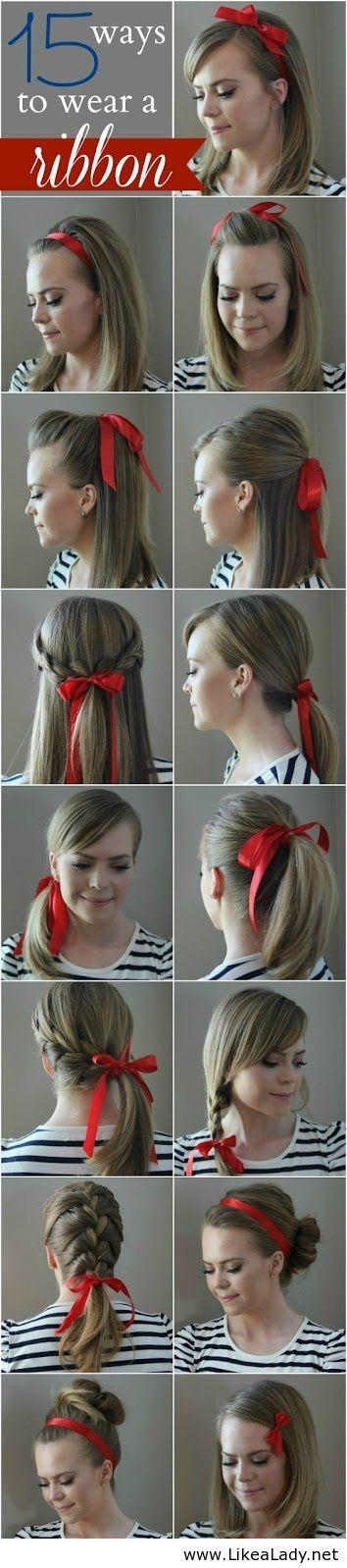 tuto coiffure avec ruban cheveux