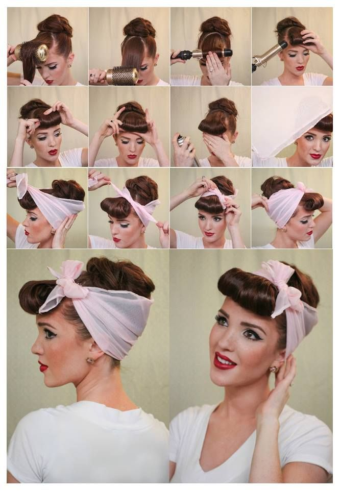 50s pin up hairstyles : Quick Easy Vintage 40s 50s Hair Tutorial LONG HAIRSTYLES