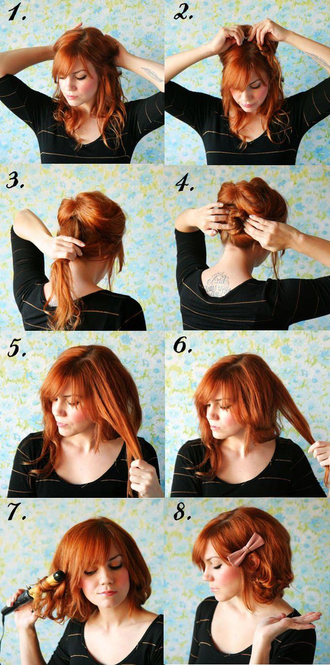 Tuto coiffure avec frange courte