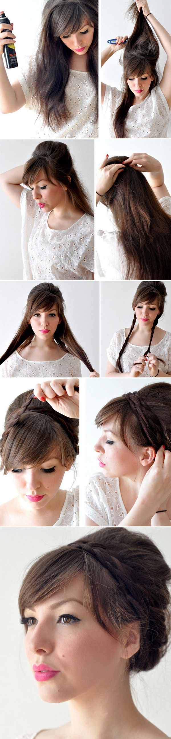 Tuto coiffure avec frange