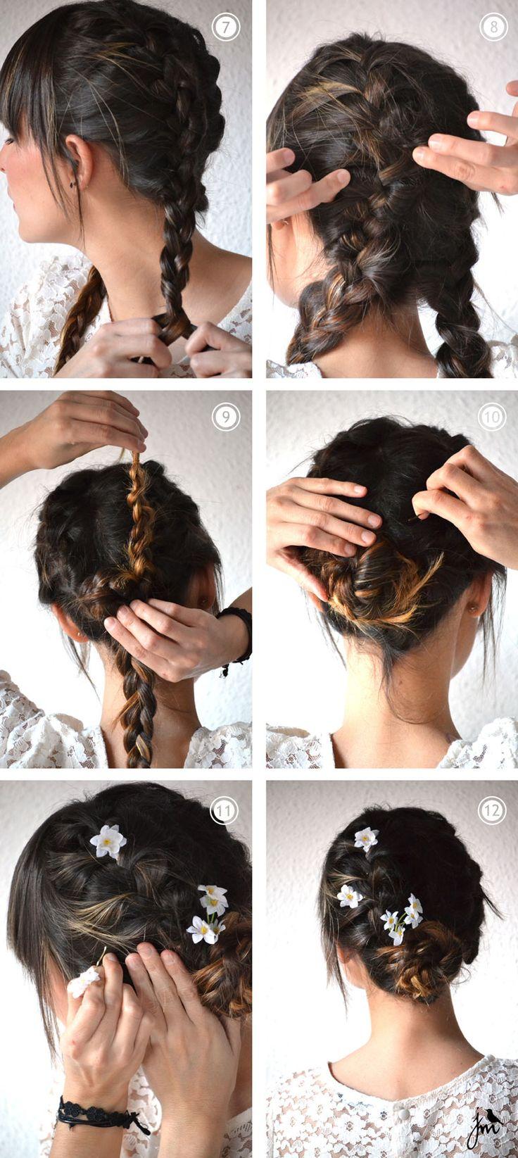 idee coiffure avec fleurs cheveux
