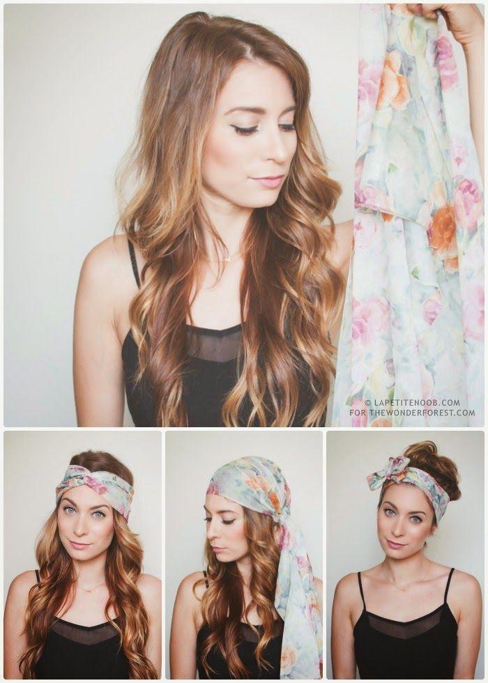 comment enrouler foulard tete