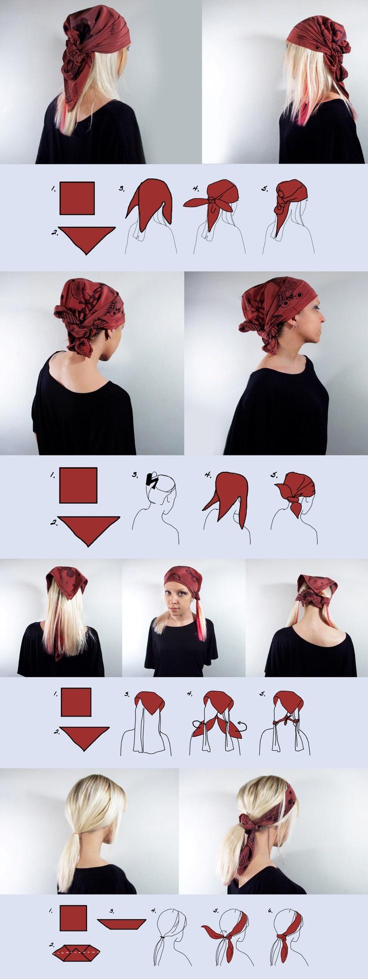 comment mettre et enrouler un foulard autour de la t te. Black Bedroom Furniture Sets. Home Design Ideas