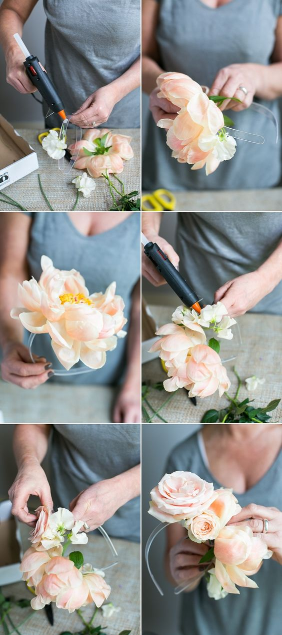Tendance coiffure la couronne de fleur dans les cheveux - Tuto couronne de fleur ...