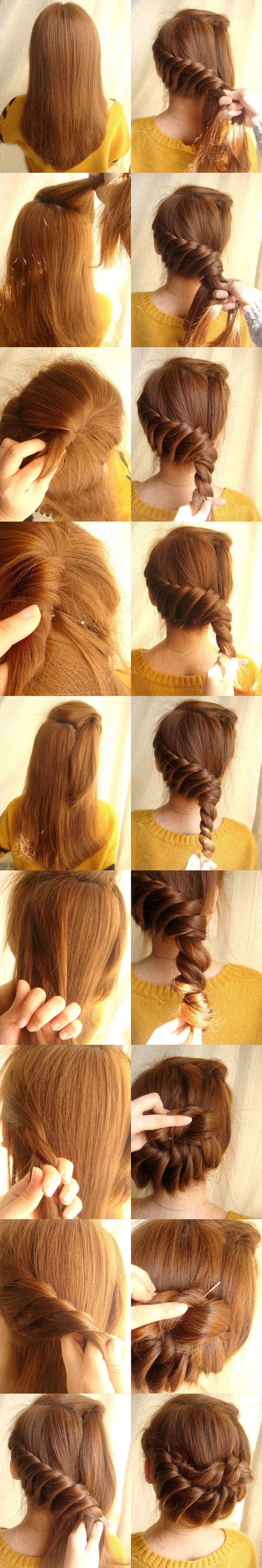 tutorial tresse coiffure romantique femme