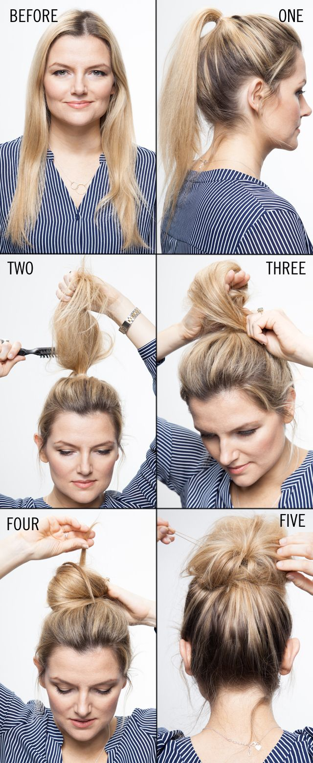 Tuto coiffure cheveux long fin