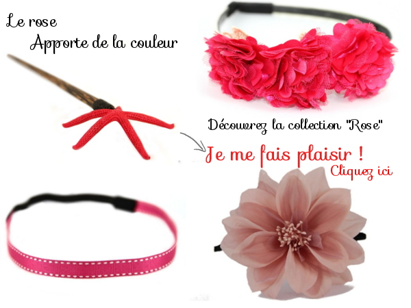 Les accessoires cheveux rose