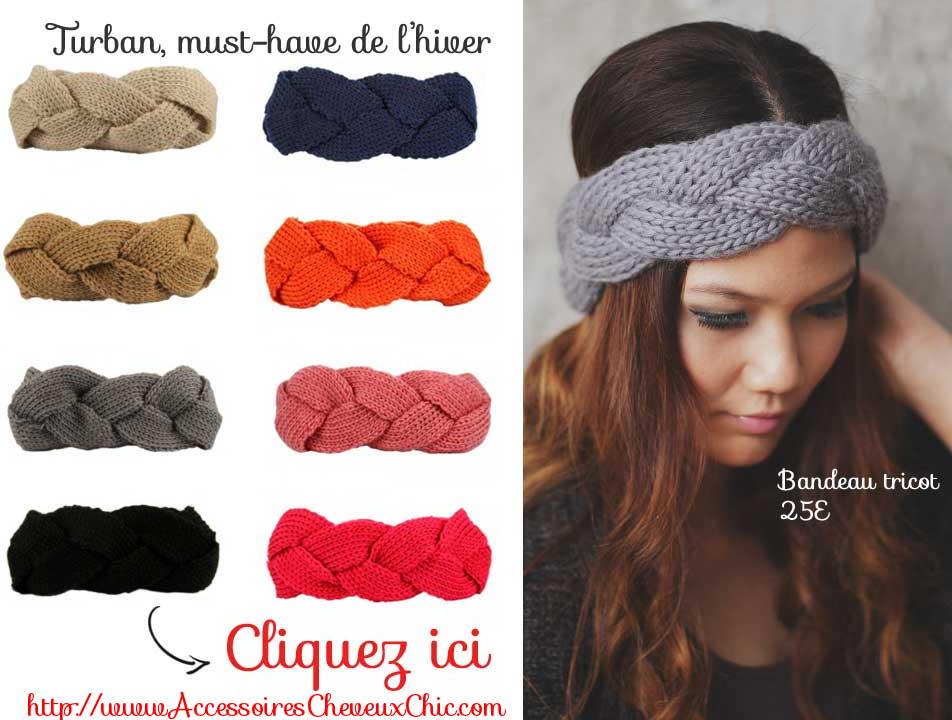 bandeaux pour cheveux laine