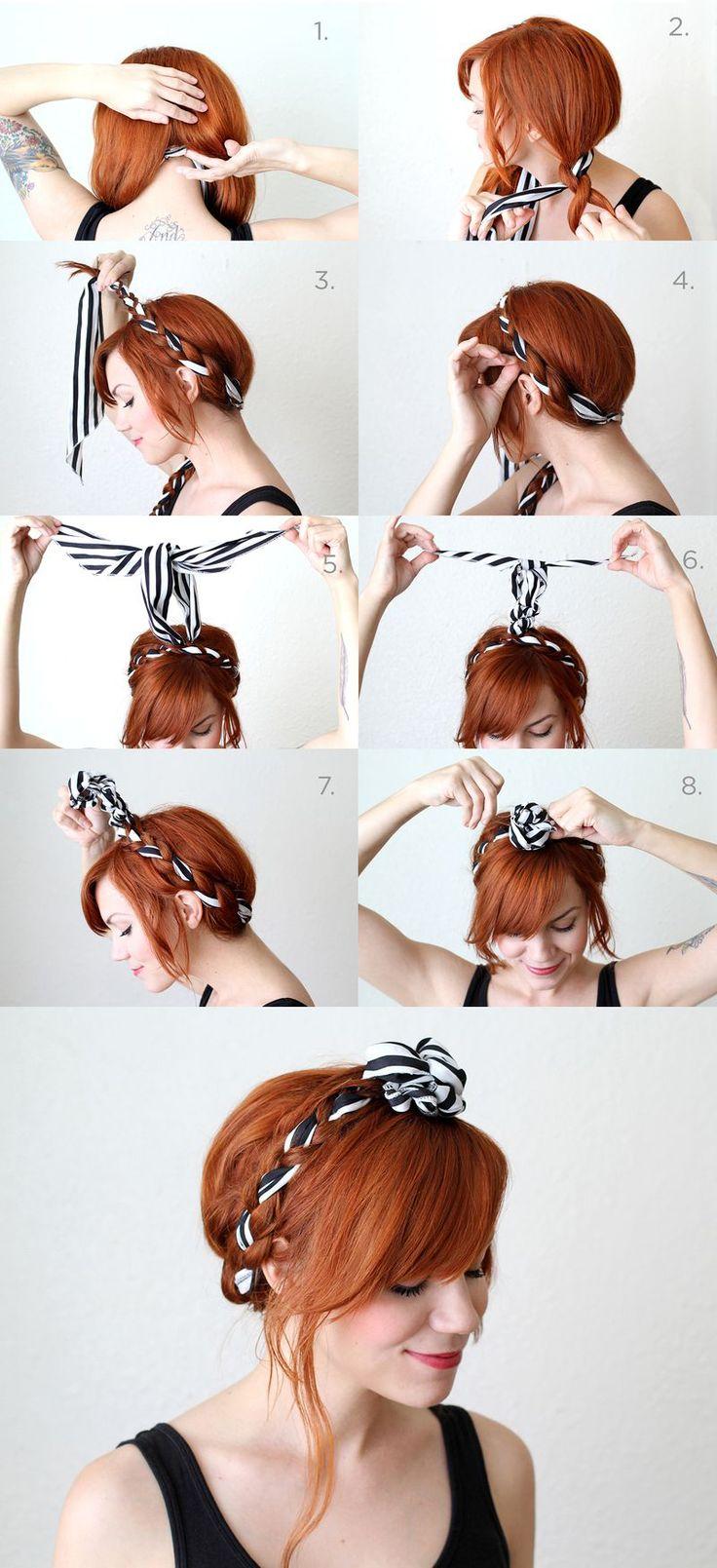 Nouer son foulard en couronne headband