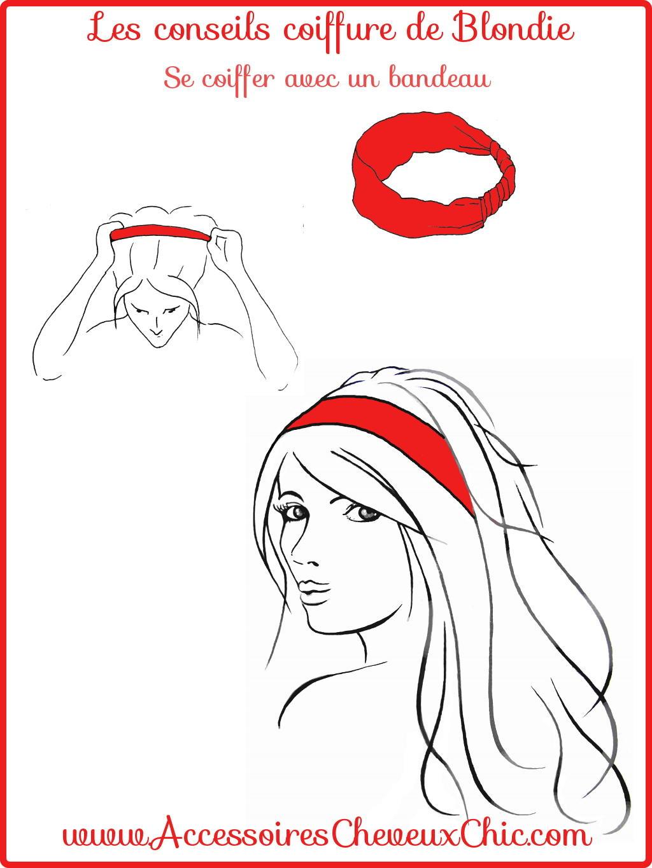 Se coiffer avec un bandeau cheveux