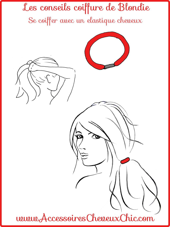 attacher ses cheveux avec un élastique