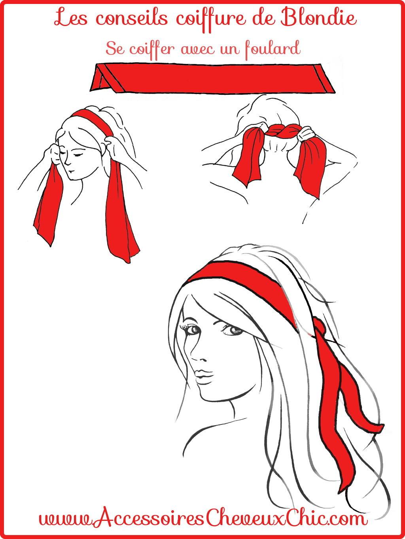 comment porter nouer et mettre un foulard cheveux. Black Bedroom Furniture Sets. Home Design Ideas