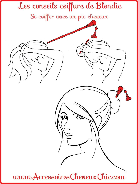 Se coiffer avec un pic cheveux