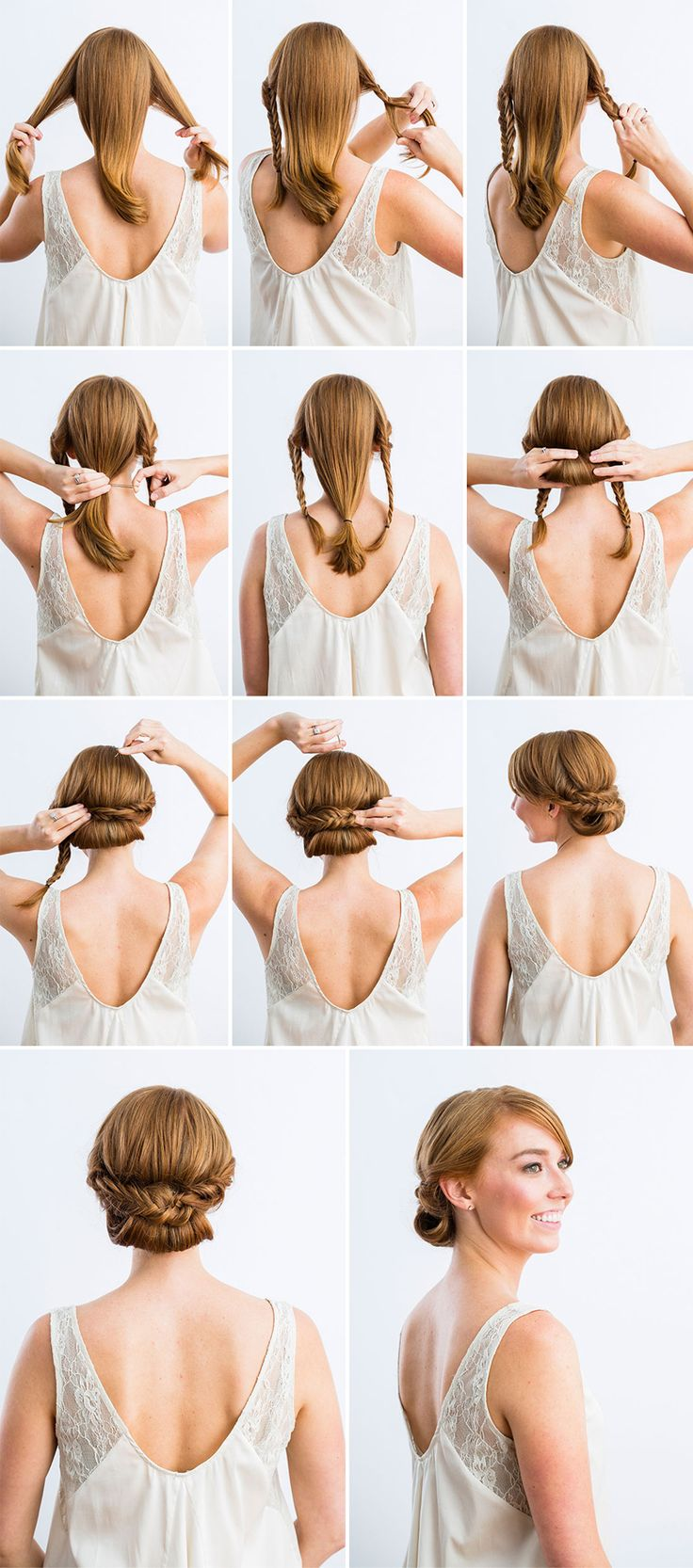 Chignon volumineux facile - Comment faire un chignon flou ...