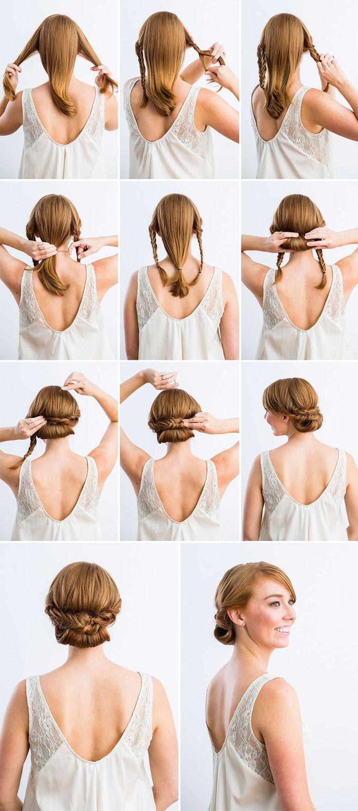 Comment faire chignon cheveux epais