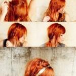 mettre headband cheveux detaches