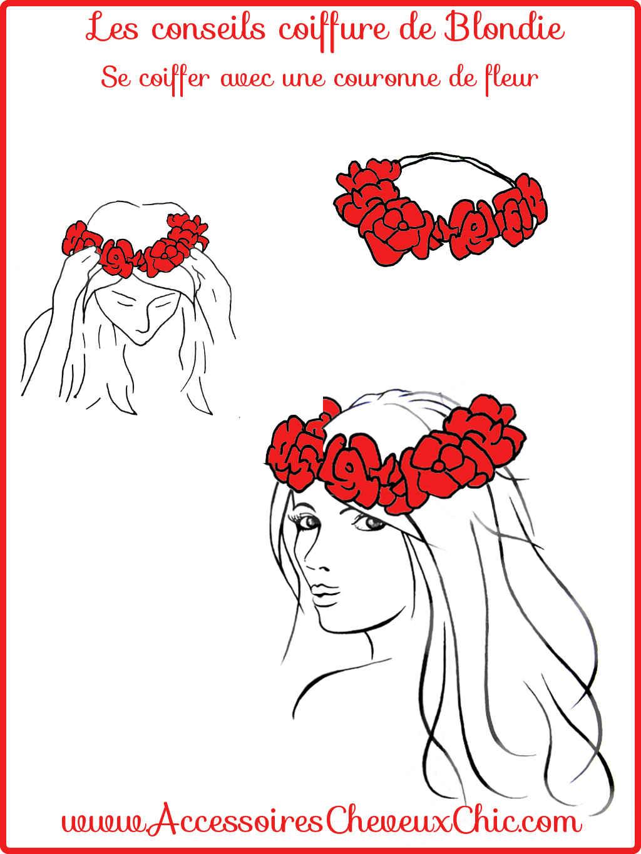 Comment se coiffer avec une couronne de fleur?