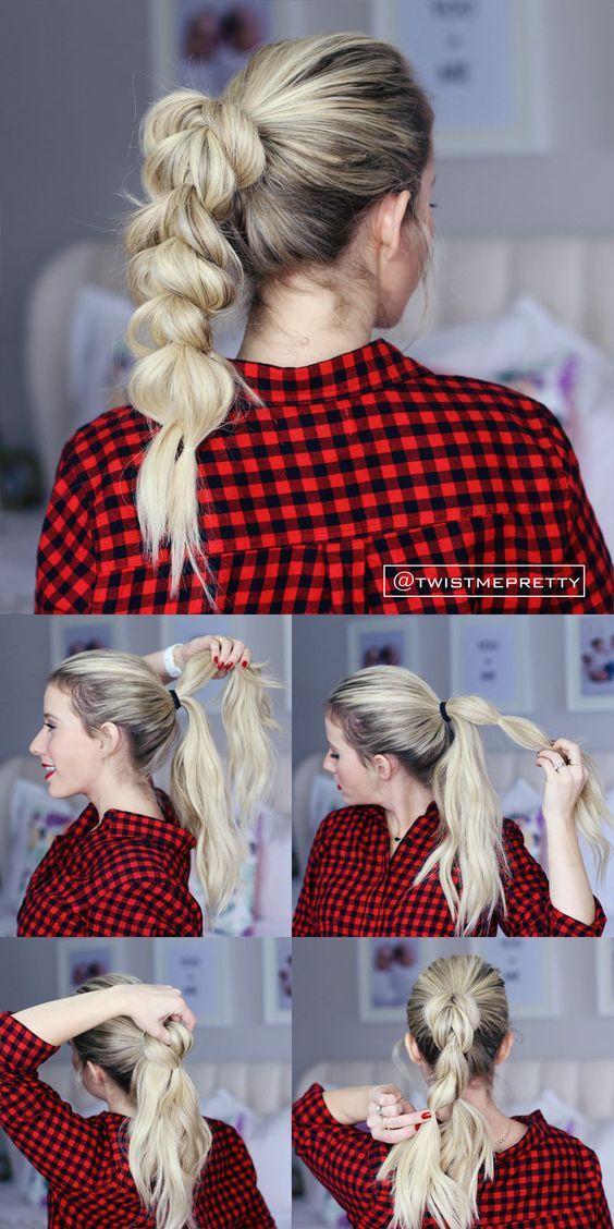 attacher cheveux avec elastique
