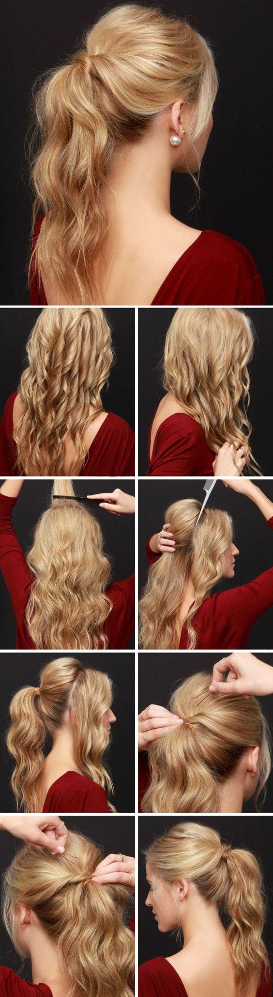 comment attacher ses cheveux avec un elastique