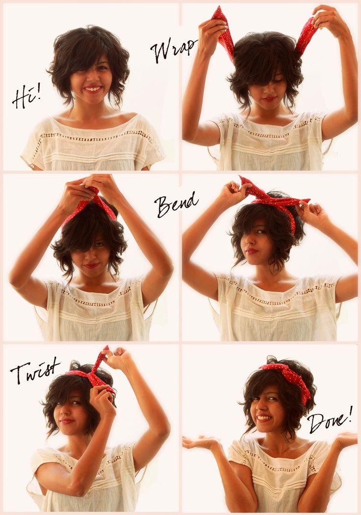 comment mettre et porter un bandeau cheveux fil de fer
