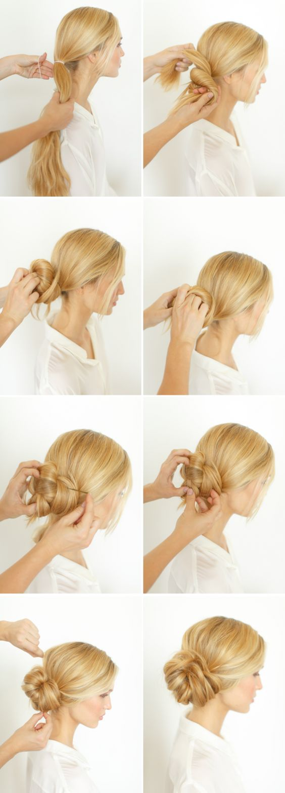 faire chignon hotesse air