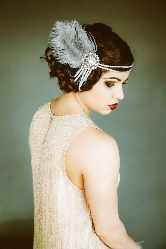 Coiffure avec headband annees 20 30 style charleston