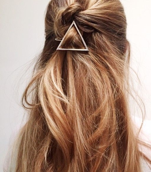 idee coiffure barrette cheveux longs