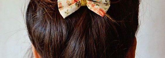 idee coiffure barrette cheveux noeud