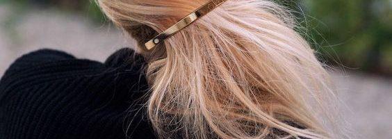 idee coiffure barrette plate